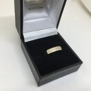Preowned 18 carat yellow gold diamond set band/ ring