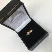 18 carat yellow good ruby and diamond ring