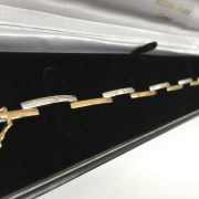 9 carat 2 colour diamond bracelet