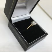 Preowned 18 carat yellow gold moissanite single stone ring