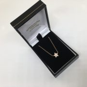 9 carat rose gold diamond star pendant and chain