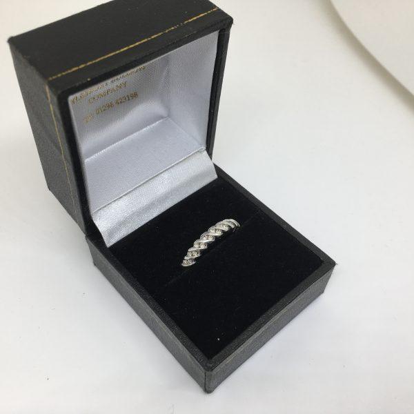 9 carat white gold diamond band/ eternity ring