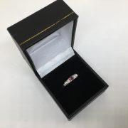 9 carat white gold pink tourmaline and diamond ring