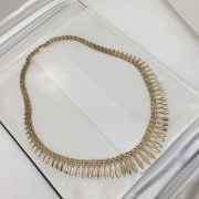 Preowned 9 carat yellow gold cleopatra necklace