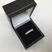 Preowned 18 carat yellow gold diamond band