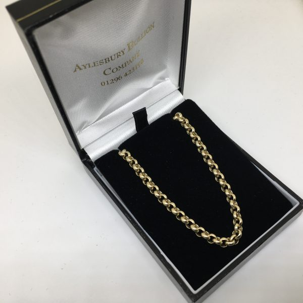 Preowned 9 carat yellow gold belchar chain