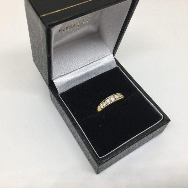 Preowned 18 carat yellow gold diamond ring
