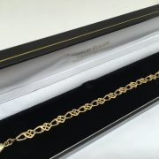 Preowned 9 carat yellow gold fancy linked bracelet