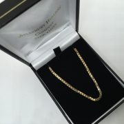 Preowned 9 carat yellow gold box chain