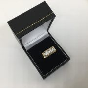 Preowned 9 carat yellow gold CZ ring