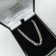 Preowned 9 carat white gold anchor chain