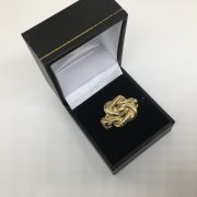 9 carat yellow gold knot ring