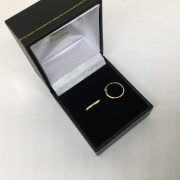 9 carat yellow gold hinged sleeper hoops