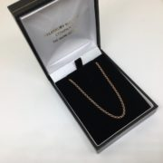 Sterling silver rose gold plated round belchar chain