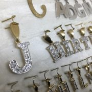 Assorted 9 carat initials