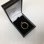 9 carat yellow gold 1/2 sovereign mount pendant