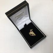 9 carat yellow gold harp charm/ pendant