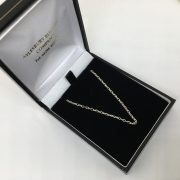 Sterling silver diamond cut oval belchar chain