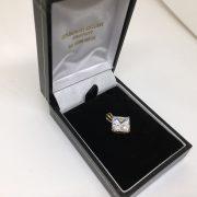 9 carat yellow gold CZ charm/ pendant