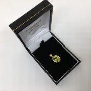 9 carat yellow gold peridot pendant