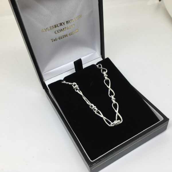 Sterling silver Romeo and Juliet chain