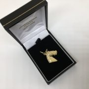 9 carat yellow gold horse head charm/ pendant