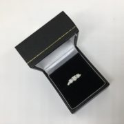 Preowned 18 carat white gold diamond 3 stone ring