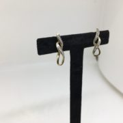 Preowned 9 carat yellow gold diamond drop earrings