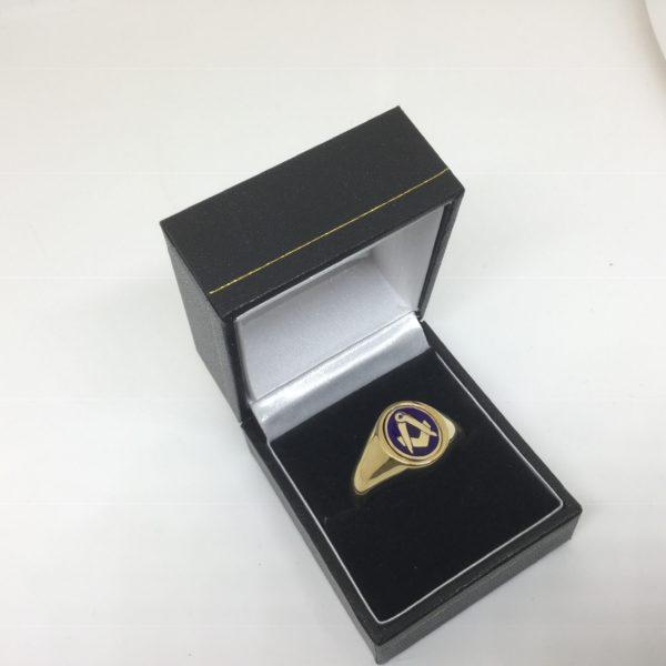 9 carat yellow gold reversible Masonic signet ring