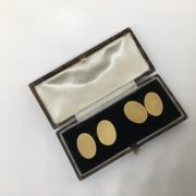 Preowned 18 carat yellow gold textured cufflinks