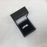 9 carat white gold diamond band