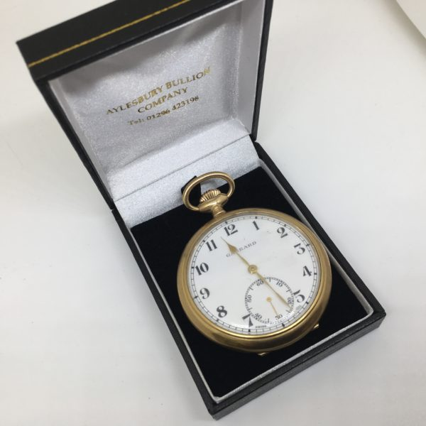 Preowned gold plated open faced pocket watch
