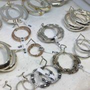 Selection of sterling silver hoop earrings