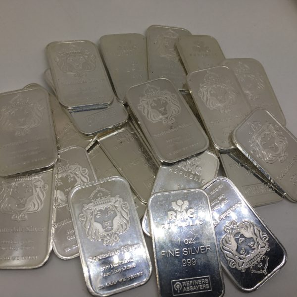 Preowned assorted 1 ounce 999.0 silver bars