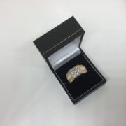 9 carat yellow and white gold diamond ring