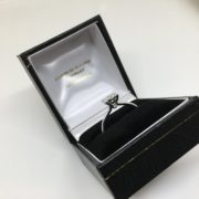 18 carat white gold diamond cluster ring