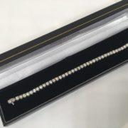 Preowned 18 carat white gold diamond tennis bracelet