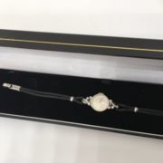 Preowned 14 carat white gold diamond cocktail watch