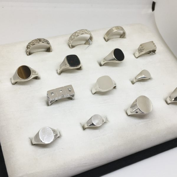 Selection of sterling silver handmade rings