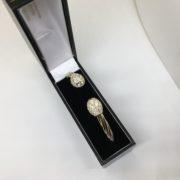 9 carat yellow gold CZ hunger torque bangle