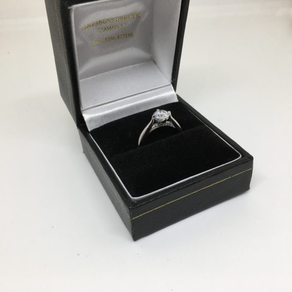 Preowned platinum diamond Boodles ring