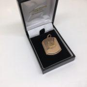 Preowned 9 carat rose gold rectangle locket