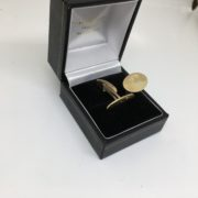 9 carat yellow gold swivel cufflinks with engraving