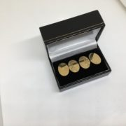 9 carat yellow gold 1/2 engraved cufflinks