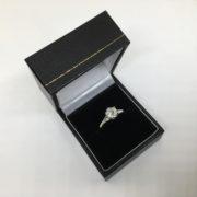 Preowned 18 carat white gold single stone diamond ring