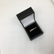 Sterling silver rose gold plated cubic zirconia ring