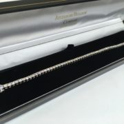 Preowned 9 carat white gold diamond tennis bracelet