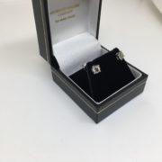 Preowned 18 carat white gold diamond earrings