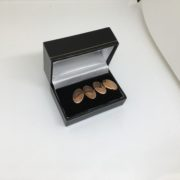 9 carat rose gold oval cufflinks