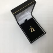 Preowned 9 carat yellow gold 21 charm/ pendant